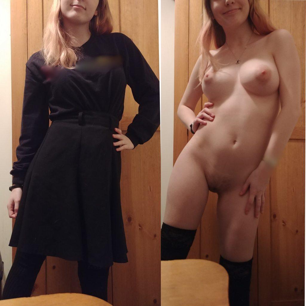 Fotos De Mulheres Com Roupa E Sem Roupa (23)